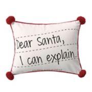 Levtex Home Santa Claus Lane Postcard Throw Pillow
