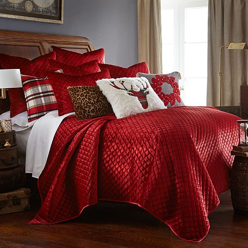 Levtex Home Red Velvet Quilt Set