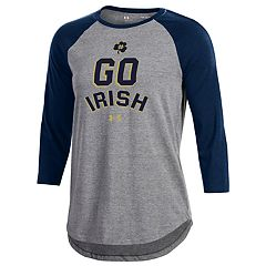 Women's Under Armour Notre Dame Fighting Irish Charged Baseball Tee