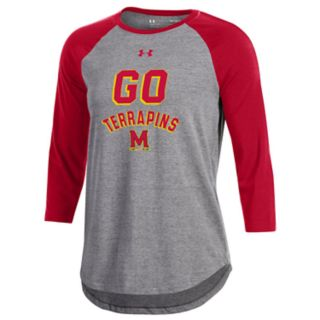 Women's Under Armour Maryland Terrapins Charged Baseball Tee