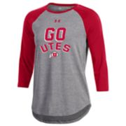 Women's Under Armour Utah Utes Charged Baseball Tee