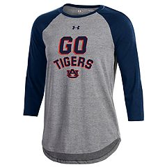 Women's Under Armour Auburn Tigers Charged Baseball Tee