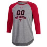 Women's Under Armour Texas Tech Red Raiders Charged Baseball Tee