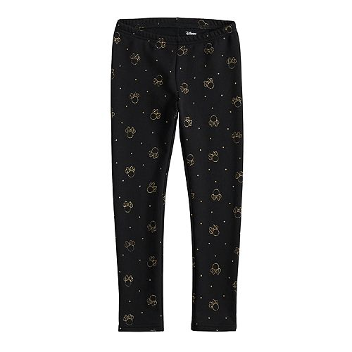 Disney's Minnie Mouse Girls 4-12 Glittery Fleece-Lined Leggings by Jumping Beans®