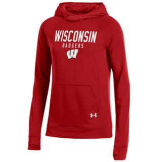 Women's Under Armour Wisconsin Badgers Featherweight Fleece Hoodie