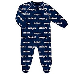 Baby New England Patriots Raglan Coverall