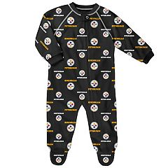 Baby Pittsburgh Steelers Raglan Coverall
