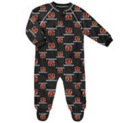 Baby Cincinnati Bengals Raglan Coverall