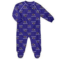 Baby Baltimore Ravens Raglan Coverall