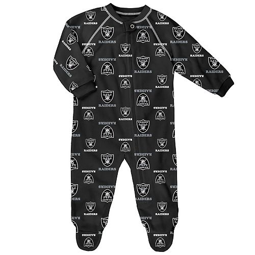Baby Oakland Raiders Raglan Coverall