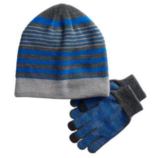 Boys 4-20 Tek Gear® Sherpa-Lined Hat & Gloves Set