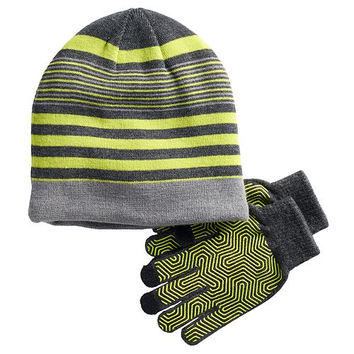 Boys 4-20 Tek Gear® Sherpa-Lined Hat & Gloves Set