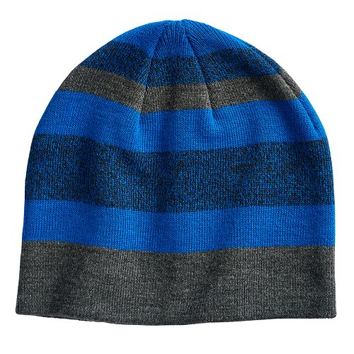 Boys 4-20 Tek Gear® Marl Knit Stripe Beanie
