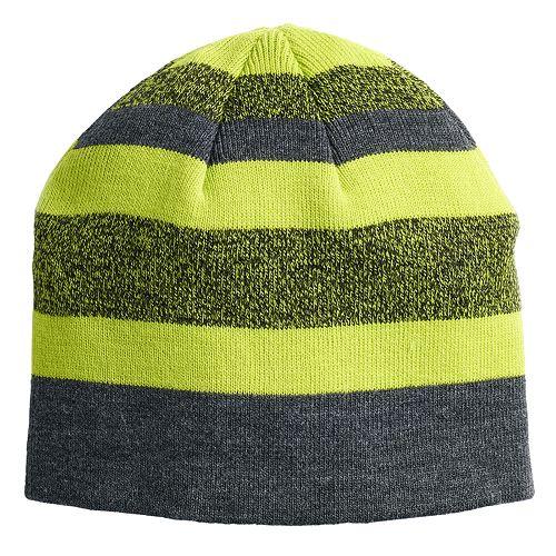 Boys 4-20 Tek Gear® Marl Knit Stripe Beanie