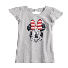 Disney's Minnie Mouse Toddler Girl Glittery Patriotic Tee by Jumping Beans®