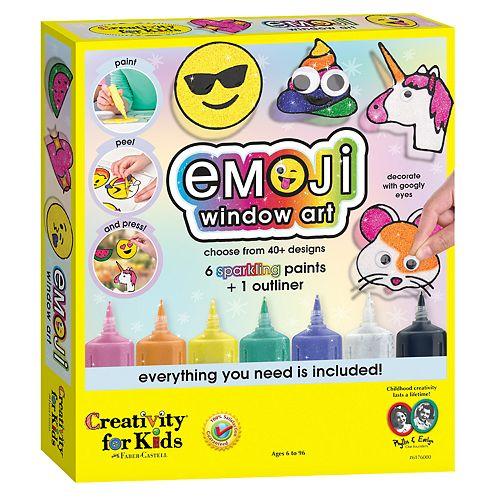 Creativity for Kids Emoji Window art Activity Set