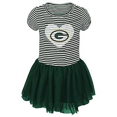Toddler Girl Green Bay Packers Sequin Tutu Dress