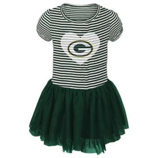 Toddler Girl Green Bay Packers Sequin Tutu Dress