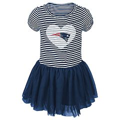 Toddler Girl New England Patriots Sequin Tutu Dress