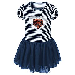 Baby Girl Chicago Bears Sequin Tutu Dress