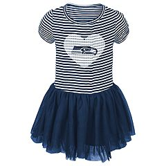 Toddler Girl Seattle Seahawks Sequin Tutu Dress