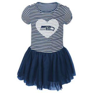 Toddler Girl Seattle Seahawks Sequin Tutu Dress