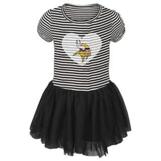 Toddler Girl Minnesota Vikings Sequin Tutu Dress