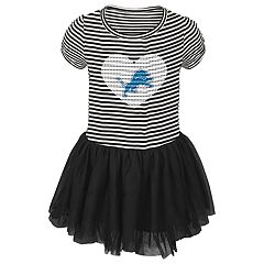 Toddler Girl Detroit Lions Sequin Tutu Dress