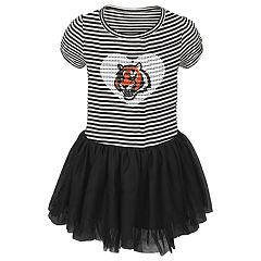 Toddler Girl Cincinnati Bengals Sequin Tutu Dress