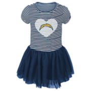 Toddler Girl Los Angeles Chargers Sequin Tutu Dress