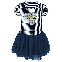 Baby Girl Los Angeles Chargers Sequin Tutu Dress
