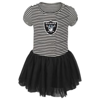 Toddler Girl Oakland Raiders Sequin Tutu Dress