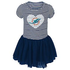 Baby Girl Miami Dolphins Sequin Tutu Dress