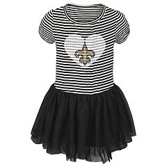 Toddler Girl New Orleans Saints Sequin Tutu Dress
