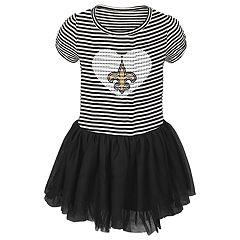 Baby Girl New Orleans Saints Sequin Tutu Dress