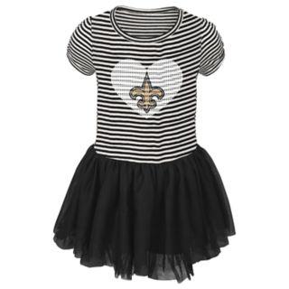Toddler Girl New Orleans Saints Sequin Tutu Dress