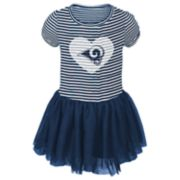 Toddler Girl Los Angeles Rams Sequin Tutu Dress