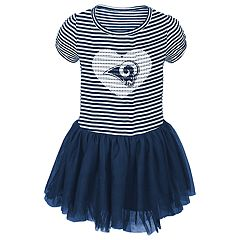 Baby Girl Los Angeles Rams Sequin Tutu Dress