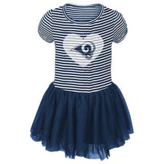 Toddler Girl Los Angeles Rams Sequin Tutu Dress