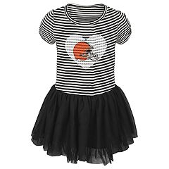 Toddler Girl Cleveland Browns Sequin Tutu Dress