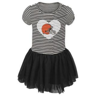 Toddler Girl Cleveland Browns Sequin Tutu Dress