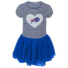 Baby Girl Buffalo Bills Sequin Tutu Dress