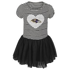 Toddler Girl Baltimore Ravens Sequin Tutu Dress