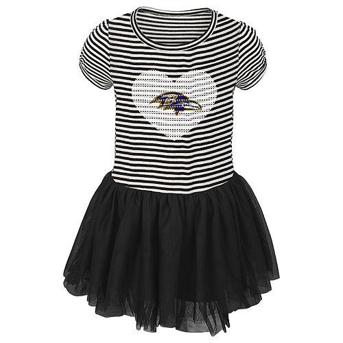 Toddler Girl Baltimore Ravens Sequin Tutu Dress
