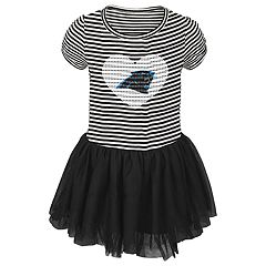 Toddler Girl Carolina Panthers Sequin Tutu Dress