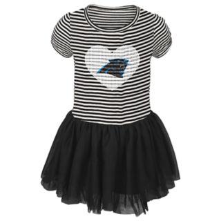 Toddler Girl Carolina Panthers Sequin Tutu Dress