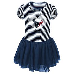 Baby Girl Houston Texans Sequin Tutu Dress