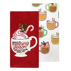 St. Nicholas Square® Morning Person Kitchen Towel 2-pack