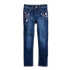 Girls 4-12 SONOMA Goods for Life™ Floral-Embroidered Skinny Jeans