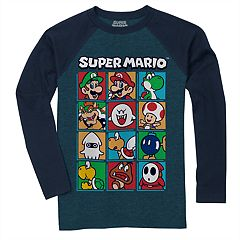 Boys 8-20 Super Mario Bros. Squares Tee
